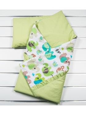 Конверт-одеяло + подушка Зоо